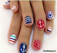 Red Blue White Patriotism Inspired Nail Art for Independence Day Fashion