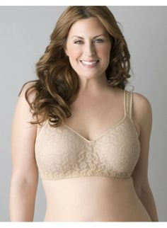 8e2aa1e6ce The full coverage comfort of our no-wire bra got a sexy lace makeover!  Extra-wide adjustable straps enhance support and comfort. Padded back  closure.