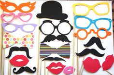 Mustache Photobooth Party Props by PhotoBoothgirls