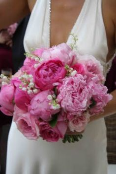 The Flower Magician: Peony & Lily of the Valley Wedding Bouquet