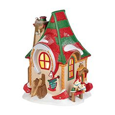 """Department 56: Products - """"North Pole Hobby Horse Barn"""" - View Lighted Buildings"""