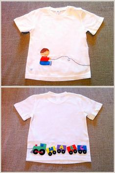 Change the imgs to pacman and ghosts? Cute Tshirts, Boys T Shirts, Diy Clothing, Clothing Patterns, Applique Designs, Kids Wear, Kids And Parenting, Baby Sewing, Diy Fashion