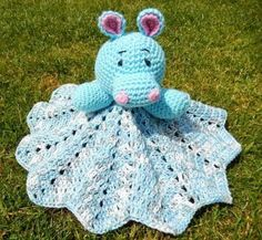 Hippo Lovey Blanket Free Crochet Pattern.