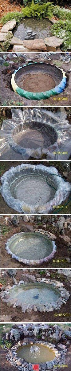 Zahradní jezírko - recycle garden