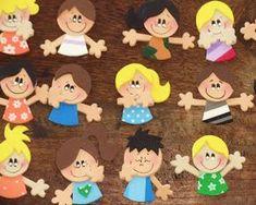 toys - Reciclagem divertida e artesanato: Junho 2011 Preschool Arts And Crafts, Foam Crafts, Diy And Crafts, Crafts For Kids, Paper Crafts, Class Door Decorations, Pre K Schools, Foam Shapes, Cute Pens