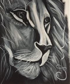 Acrylique peinture sur toile Lion sleeps tonight par DutchArtLab