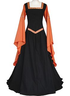 dornbluth.co.uk - medieval dresses - Hermia Black-Terracotta