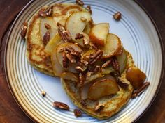 Oatmeal Pancakes With Pears and Pecans | Serious Eats: Recipes - Mobile Beta!""