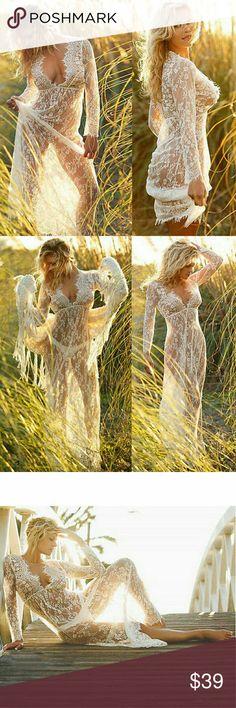 White Beauty Crochet Beach Cover Lace Crochet Bikini Beach Cover Up Long Maxi Dress Bathing Swimwear     Size   S       4-6 M    6-8 L      8-10 XL     10-12 XXL  12-14 XXXL 14-16       ebus1199 Dresses