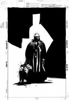 Van Helsing carries the severed heads of Dracula's brides- Mike Mignola