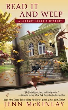 Read It and Weep (A Library Lover's Mystery) by Jenn McKinlay, http://www.amazon.com/dp/0425260720/ref=cm_sw_r_pi_dp_ArYNrb03YGDVG