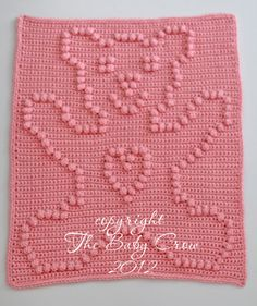 Crochet Pattern Crochet Baby Security Blanket by TheBabyCrow