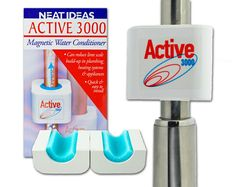 Neat Ideas Active 3000 is a magnetic water conditioner that can help reduce the build up of lime scale and over a period of time, stop it developing in pipes, heating systems and appliances.  Quick and easy to install, it simply clips around pipes up to 22mm in diameter. www.neatideas.tv