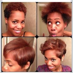 Fun short and natural hair styles, curly or straight