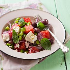 The Refreshing Watermelon Salad is juicy and perfect for a hot day.
