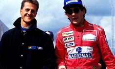Michael Schumacher and Ayrton Senna (1993)