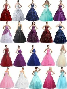 New Stock Quinceanera Dress Formal Party Prom Ball Gown Size:6,8,10,12,14,16