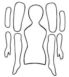 Use paper doll cut out in grade body arrangement/movement lesson. EKDuncan - My Fanciful Muse: Articulated Paper Dolls - Vintage and New Paper Doll Template, Paper Dolls Printable, Paper Puppets, Paper Toys, Diy Paper, Paper Crafts, Doll Crafts, Paper Art, Paper People