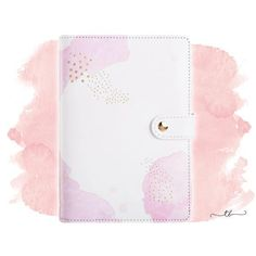 Planner binder A6/personal pink watercolor at TanyaBrittany shop