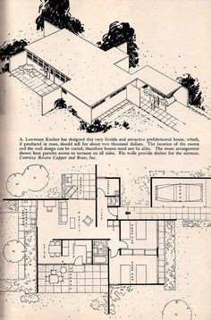 """A. Lawrence Kocher Mid Century Modern. """"Home Furnishings Second Edition"""" 1948 Anna Hong Rutt, Mid Century Design Text Book"""