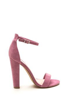 Simple Statement Chunky Velvet Heels TEAL CAMEL BLACK MAUVE - GoJane.com