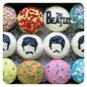 Beatles cupcakes - clever.   My friend Sheila  S would like these :-)