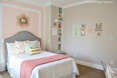 The Family Room: My Home: Tween Bedroom Reveal Love the wall decorations...