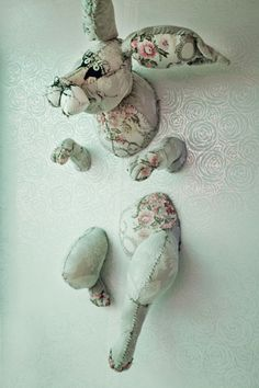 There is something surreal and funny about this textile sculpture and I like it.