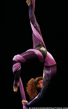 Love her outfit! #aerialsilks
