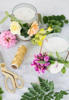 Diy essential oil candles / floral decor/ candle / diy / essential oils / home decor Diy And Crafts Sewing, Crafts To Sell, Diy Crafts, Decor Crafts, Michael Johnson, Vaping, Joanna Kuchta, Playstation Plus, Essential Oil Candles