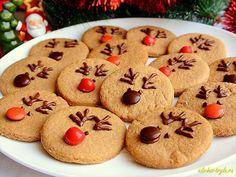 Детское новогоднее печенье «Олени Санта-Клауса» рецепт с фото