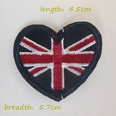 FairyTeller British Flag Patch Hot Melt Adhesive Clothing Patch 1Pcs Applique Embroidery Blossom Diy Accessories Ultra-Low Prices C151 -- Check out this great item.