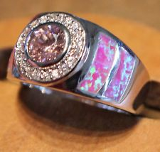 -pink-fire-opal-ring-gemstone-silver-jewelry-sz-8-exquisite-zircon-modern