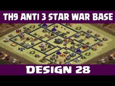 Clash of Clans | Town Hall 9 Anti 3 Star War Base | Layout 28 | CoC
