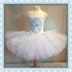 Olaf Tutu Dress. Inspired Handmade Tutu Dress by DiddyDarlings