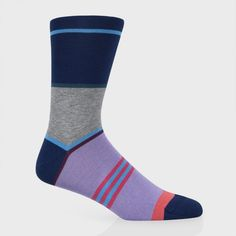 Paul Smith Socks | Navy Spaced Out Stripe Socks