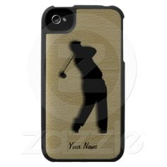 Golfers Tan Leather  IPhone 4 Case comes in all iphone cases, samsung, ipod touch