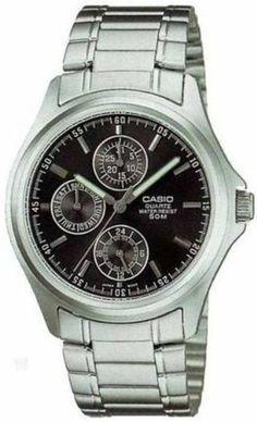 Casio Multifunction Bracelet Men's watch #MTP1246D-1AV Casio. $38.36. Mineral Crystal. 40mm Case Diameter. 50 Meters / 165 Feet / 5 ATM Water Resistant. Quartz Movement