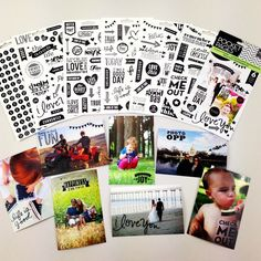 black clear stickers for photos, easier than photoshop!  available in mambi online shop monday.  me & my BIG idea stickers.