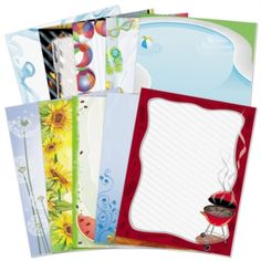 Summer Party Border Paper Variety Pack - 10 different summer designs, 10 of each design | from PaperDirect