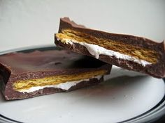 S'mores Candy Bars -- easy and smart idea!
