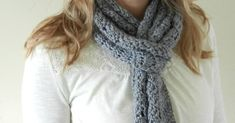 Make a soft and simple chevron scarf with this free crochet pattern.