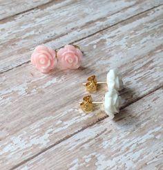 Wedding 2016, Flower Girl Earrings, Flower Girl Jewelry, Flower Girl Gift, Bridesmaids Jewelry, Bridal Jewelry, Little Girls Earrings by JewelsbyRosies on Etsy