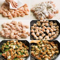 Garlic Butter Chicken Bites - the easiest 15 minute recipe that requires minimal prep and a few basic ingredients, yet it wows with flavor! A new weeknight dinner staple! Meat Recipes, Chicken Recipes, Cooking Recipes, Healthy Recipes, Chicken Meals, Healthy Dinners, Cake Recipes, Healthy Food, Dinner Recipes