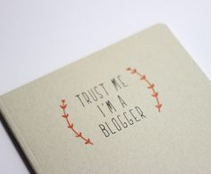 Notebook for bloggers quote natural paper cute gift by OipsStore, $15.00