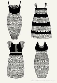 lace dress - a print a day