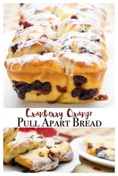 Cranberry Orange Pull Apart Bread. A fun twist on the popular pull apart bread trend. This dessert bread recipe features yeast rolls, brown sugar, orange juice and cranberries. Perfect for your winter baking and elegant enough to serve for your holiday guests! #Prep4Gathering #ad