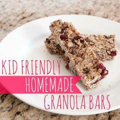 Kid-Friendly Homemade Granola Bars