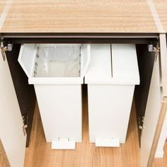 KEYUCA(ケユカ) arrots ダストボックス ゴミ箱 Kitchen Interior, Interior Design Living Room, Recycling Bins, Covered Boxes, Life Organization, Organizing, Home Kitchens, House Design, Storage