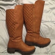 Winter Boots Super sexy tall calf boots!! Worn twice !! Also is a wide calf!! Super comfy!                                    ❤️ Prices are negotiable but please be considerate due to Poshmark fees are 20% ❤️ OFFER button is always the best ❤️ Bundles receive great discounts ❤️ SAME day shipping ❤️ No Trades, No holds , No PayPal  ❤️ Happy Poshing  Shoes Winter & Rain Boots